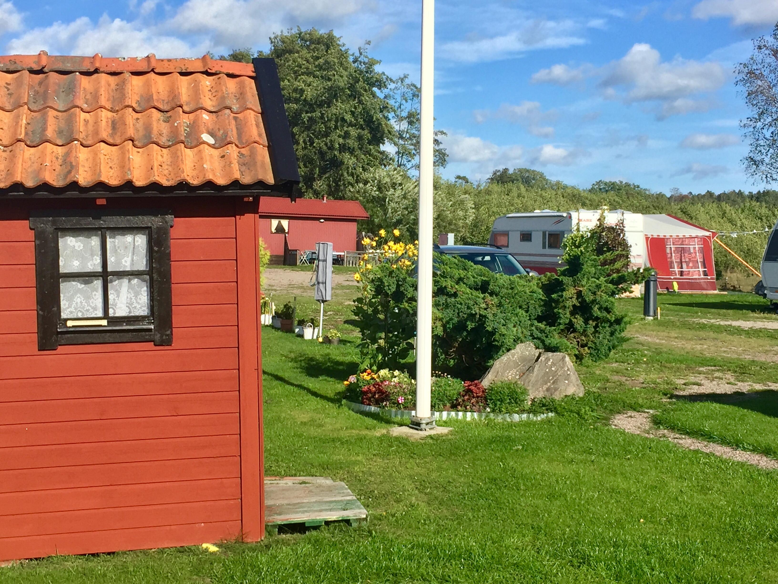 Redskapsbod för alla årsgäster på Horns Skärgårdscamping
